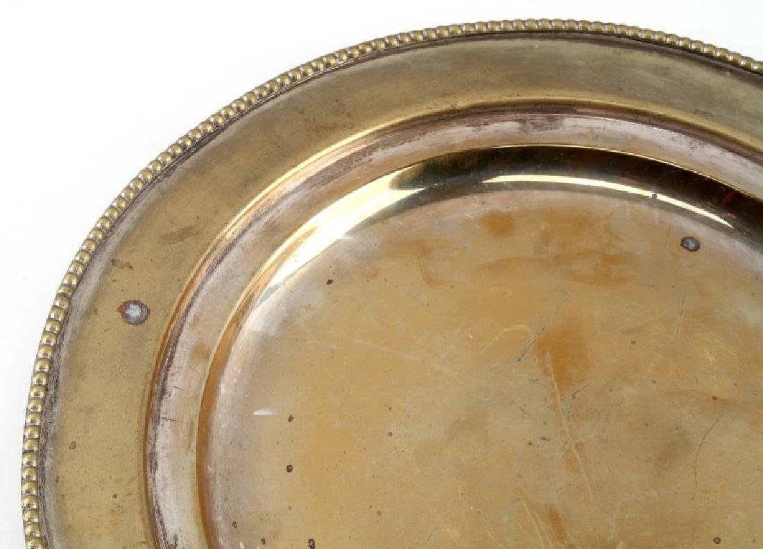 HERMANN GOERING LARGE PERSONAL SILVER PLATE WWII - 3