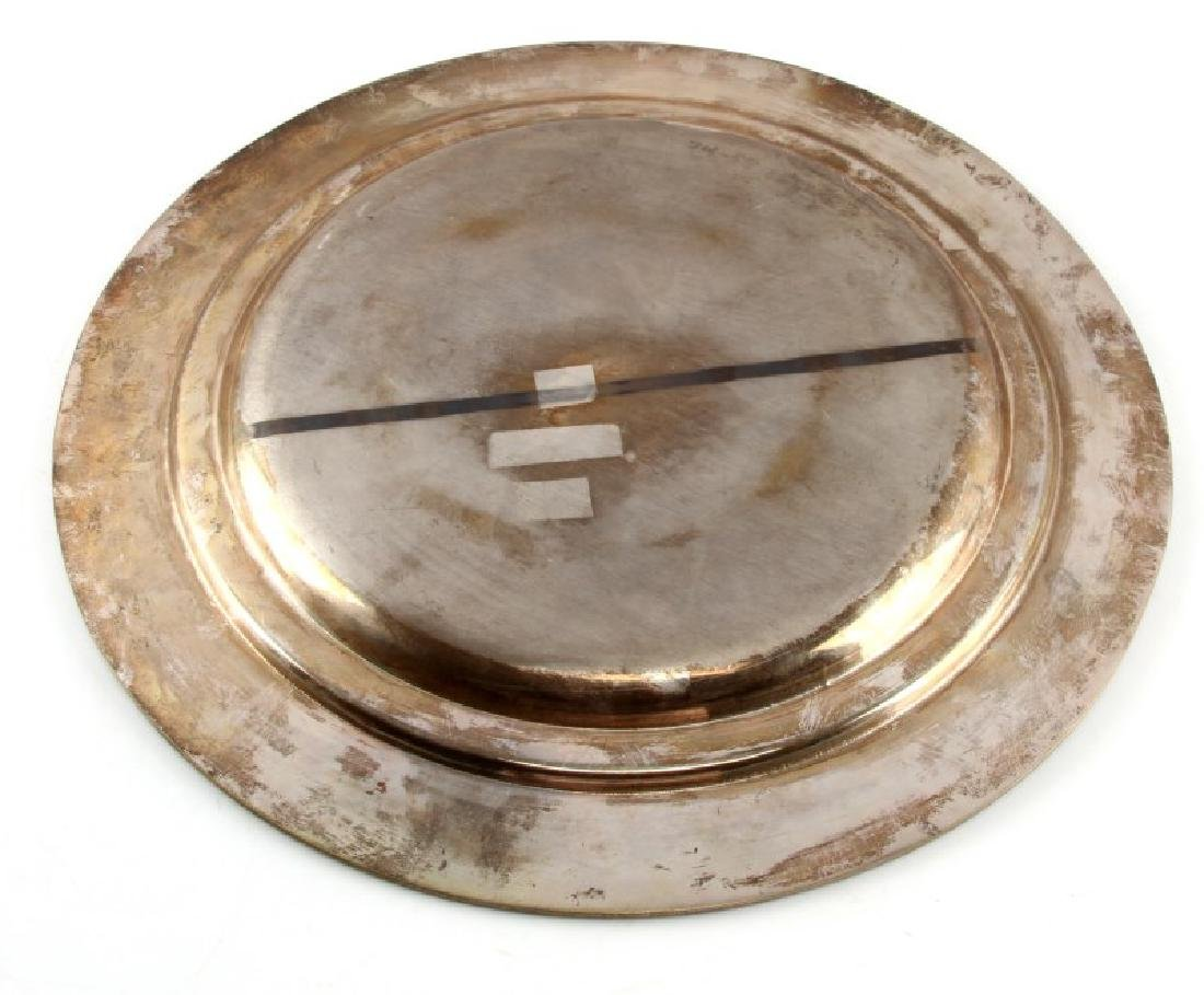 HERMANN GOERING LARGE PERSONAL SILVER PLATE WWII - 4