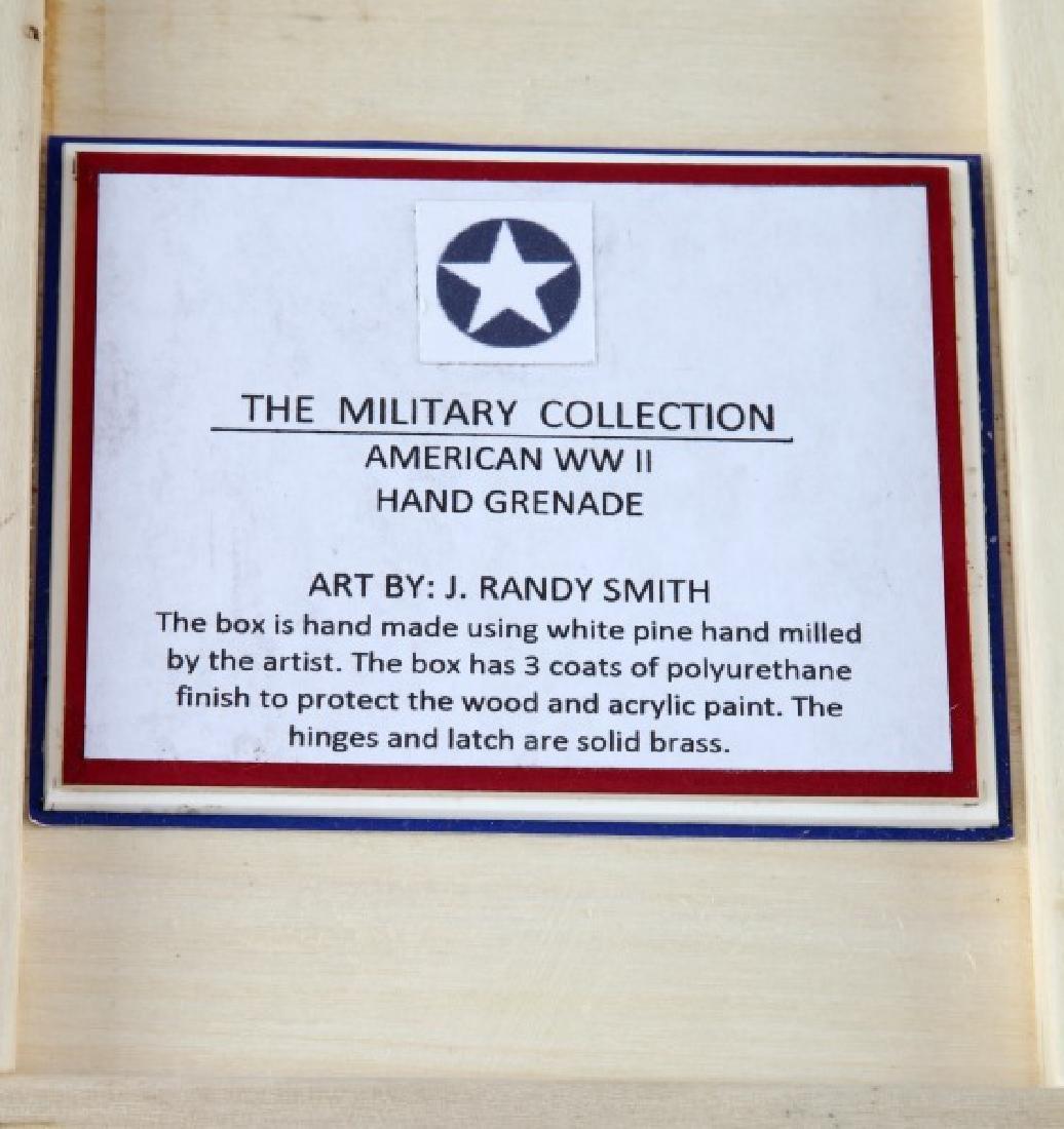 HAND PAINTED TRINKET BOX W WWII U.S. INERT GRENADE - 3