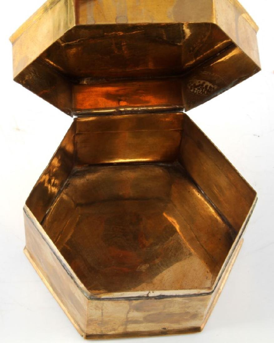 GERMAN WWII BRASS IRON CROSS TRINKET BOX STAMPED - 3