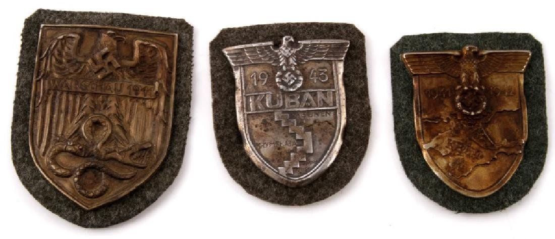 GROUP OF 3 GERMAN WWII PERIOD SHIELDS