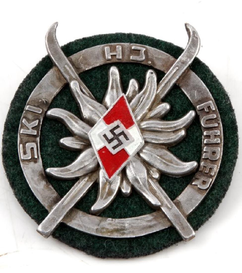 GERMAN WWII HITLER JUGEND SKI FUHRER SHIELD