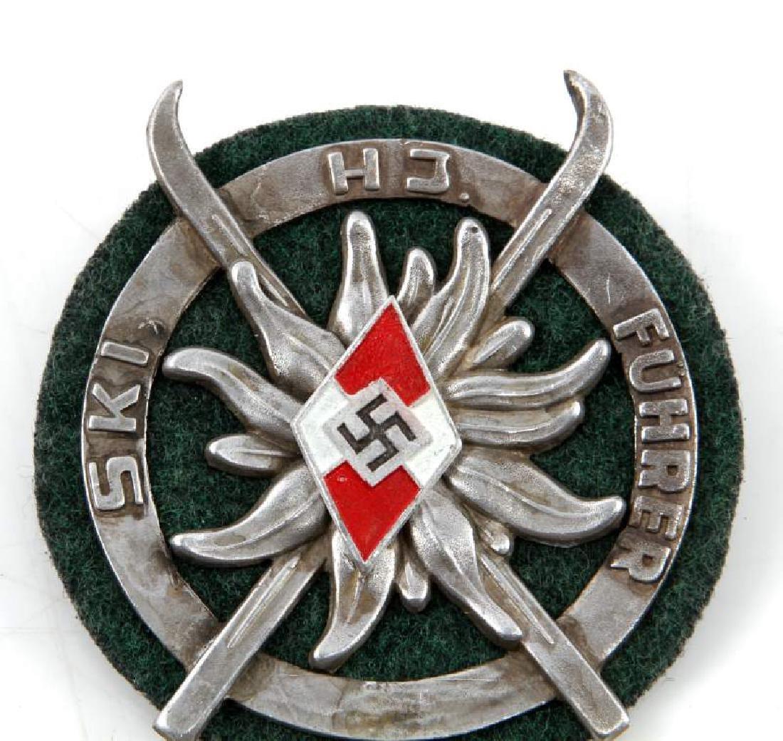 GERMAN WWII HITLER JUGEND SKI FUHRER SHIELD - 2