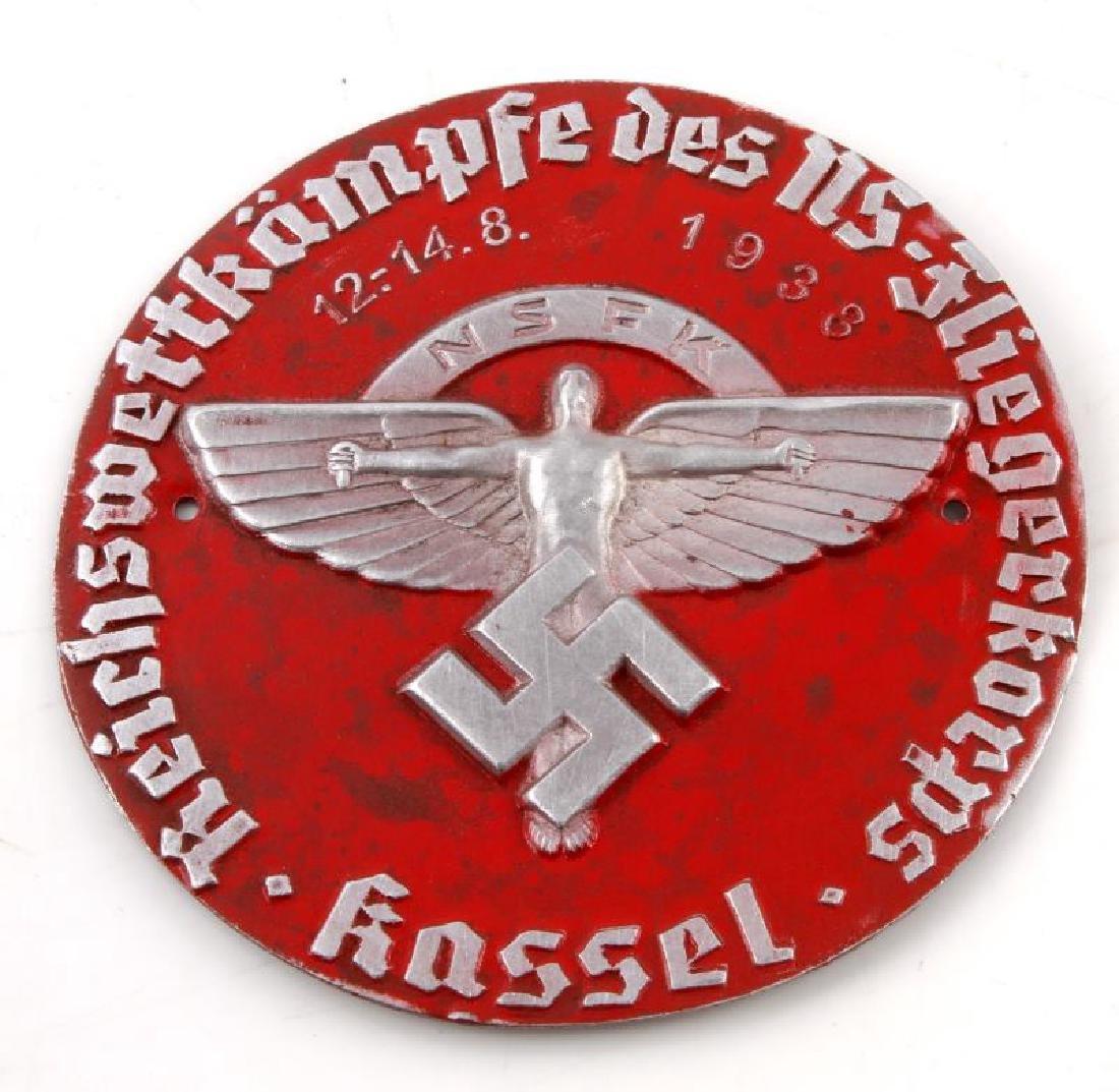GERMAN WWII NSFK 1933 KASSEL RALLY PLAQUE