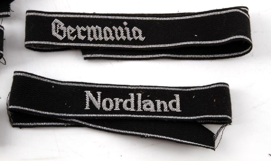 5 GERMAN WWII WAFFEN SS DIVISION CUFF TITLES - 3