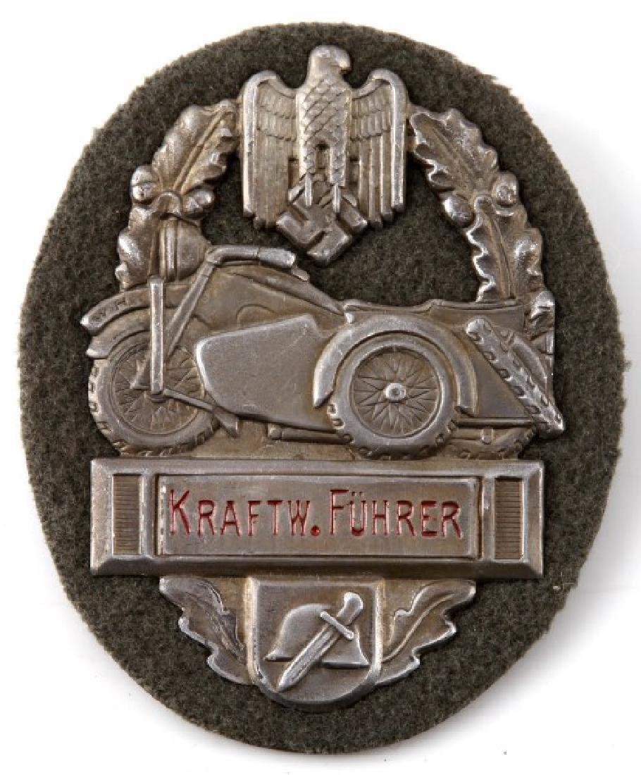 WWII GERMAN 3RD REICH MOTORCYCLE AWARD