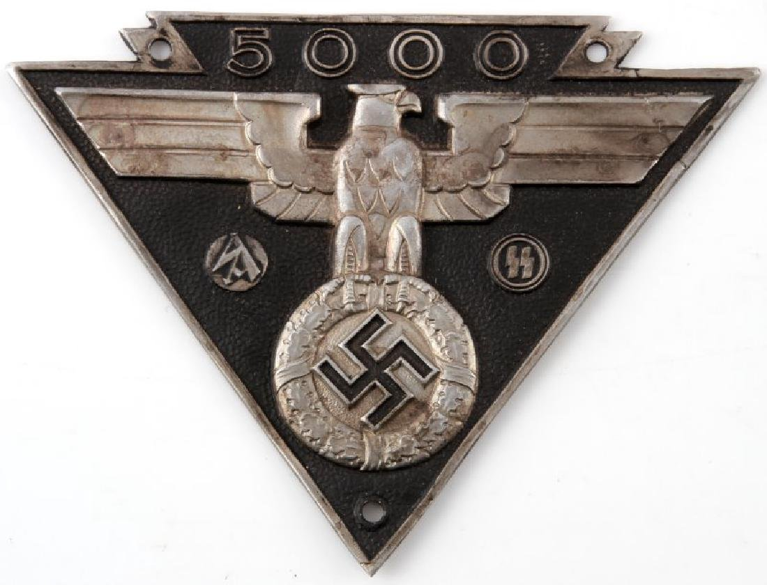WWII GERMAN 3RD REICH SS SA MILITARY BIKE PLAQUE