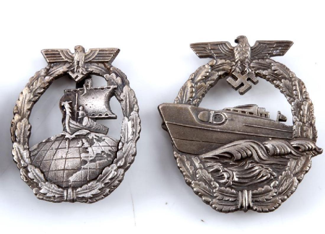 4 GERMAN WWII KRIEGSMARINE BADGES MINESWEEPER - 3