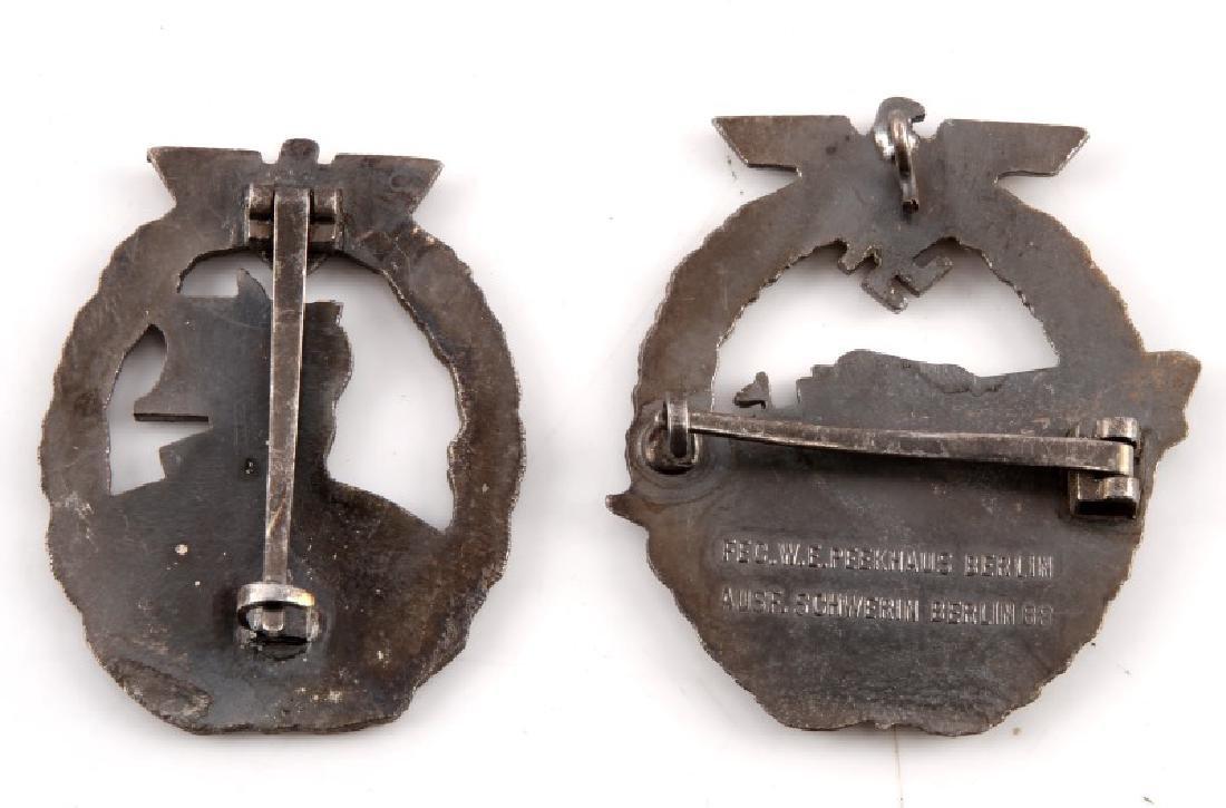 4 GERMAN WWII KRIEGSMARINE BADGES MINESWEEPER - 4