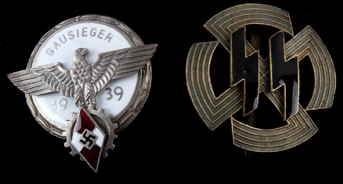 PAIR WWII GERMAN BADGES PROFICIENCY & HITLERJUGEND