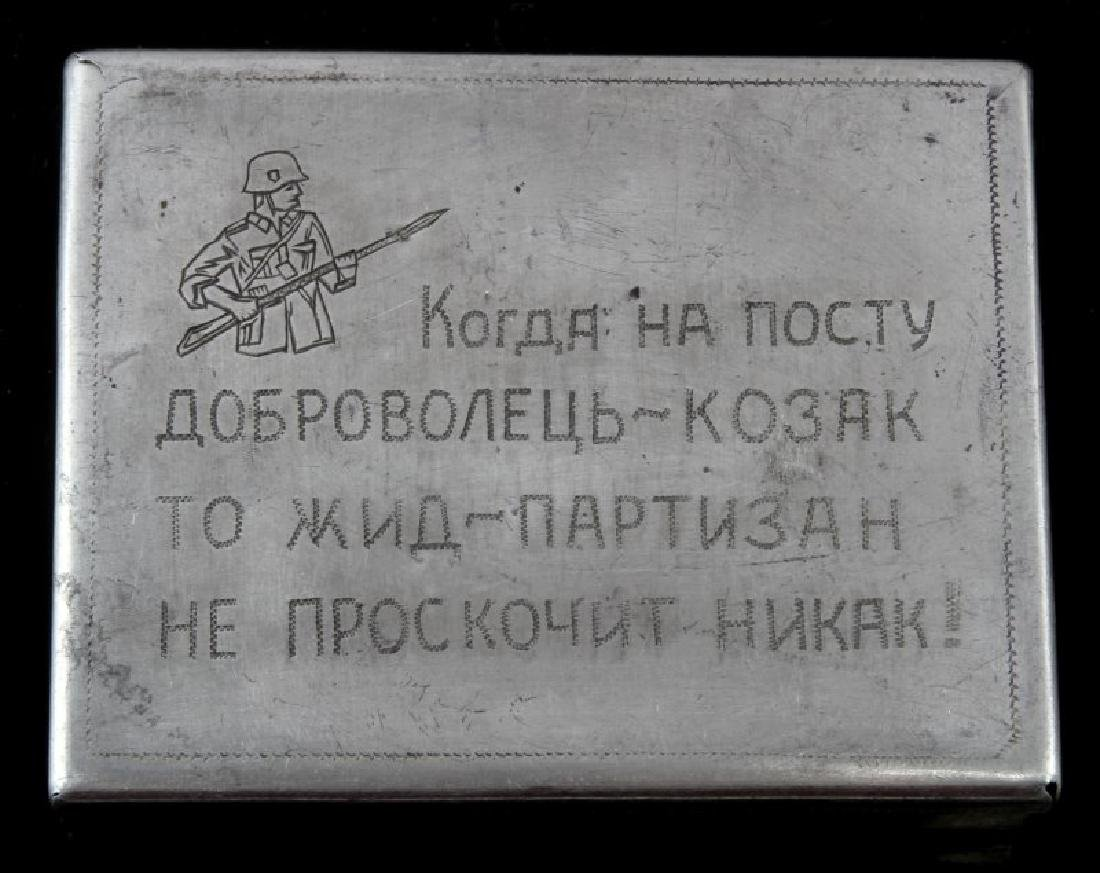 WWII THIRD REICH RUSSIAN COSSACK CIGARETTE CASE