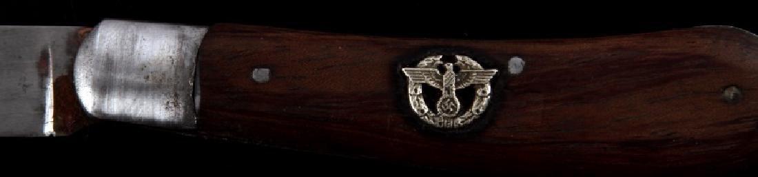 WWII ERA GERMAN THIRD REICH SS POLICE POCKET KNIFE - 2