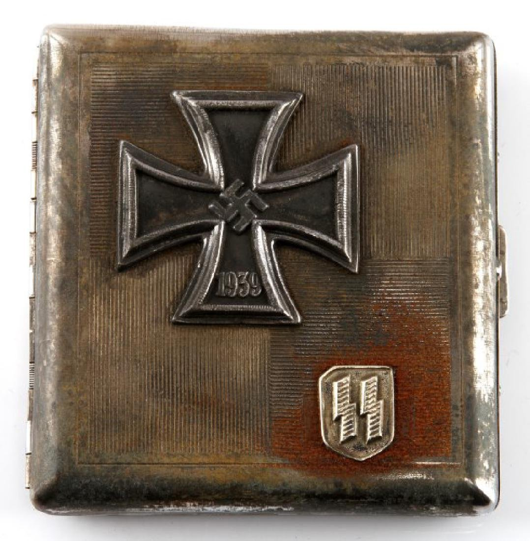 WWII GERMAN  IRON CROSS WINNER'S CIGARETTE CASE