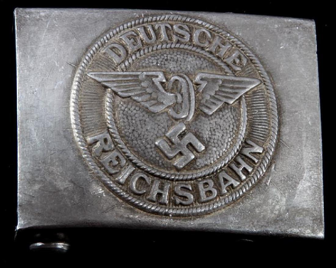 WWII GERMAN DEUTSCHE REICHSBAHN BELT BUCKLE MARKED
