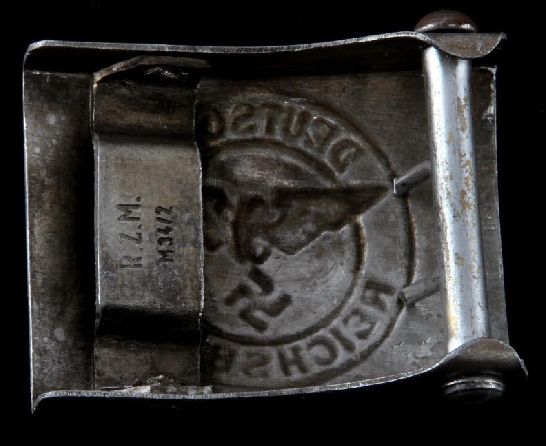 WWII GERMAN DEUTSCHE REICHSBAHN BELT BUCKLE MARKED - 2
