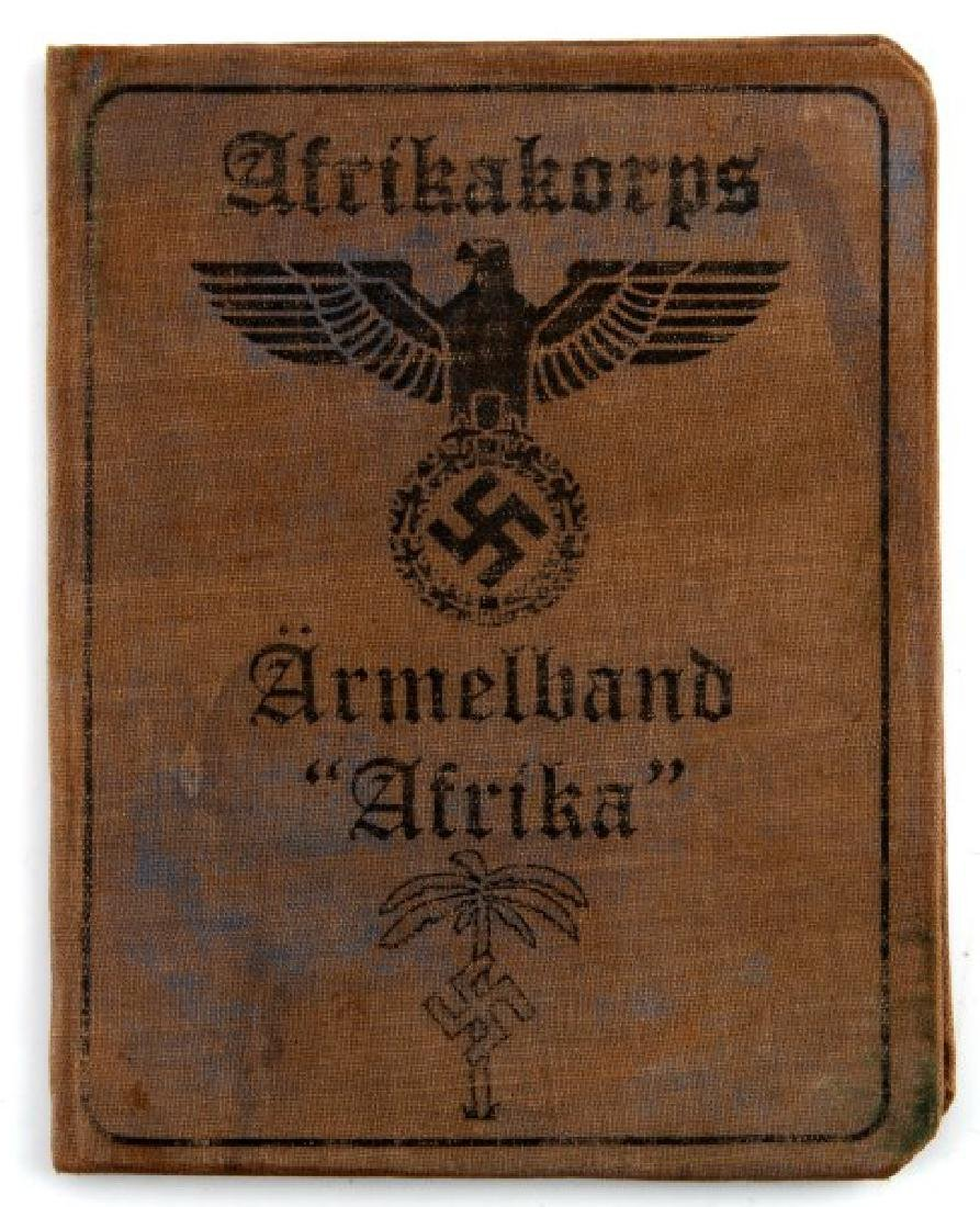GERMAN WWII 3RD REICH AUSWEIS PANZER PARTICIPANT