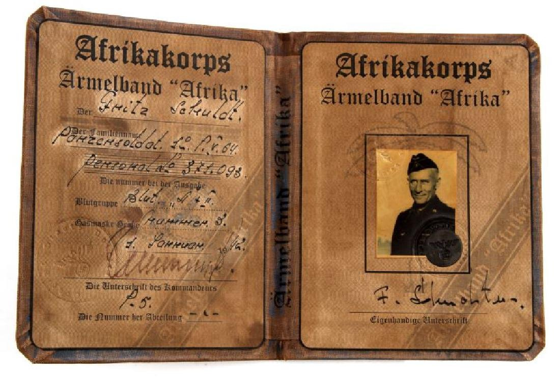 GERMAN WWII 3RD REICH AUSWEIS PANZER PARTICIPANT - 2