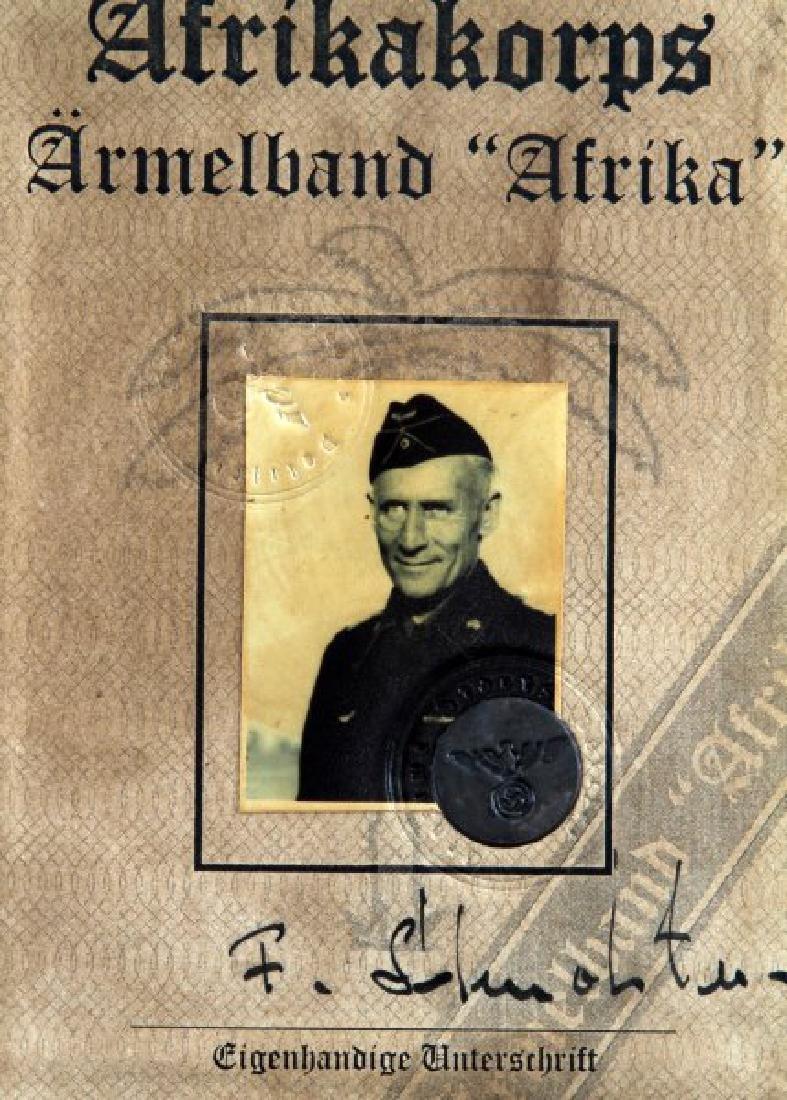 GERMAN WWII 3RD REICH AUSWEIS PANZER PARTICIPANT - 3