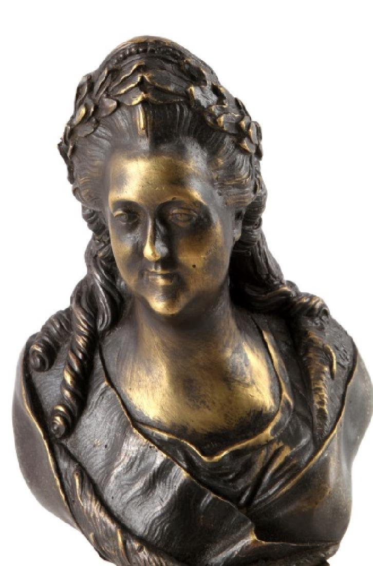 RUSSIAN BRONZE BUST EMPRESS CATHERINE THE GREAT - 2