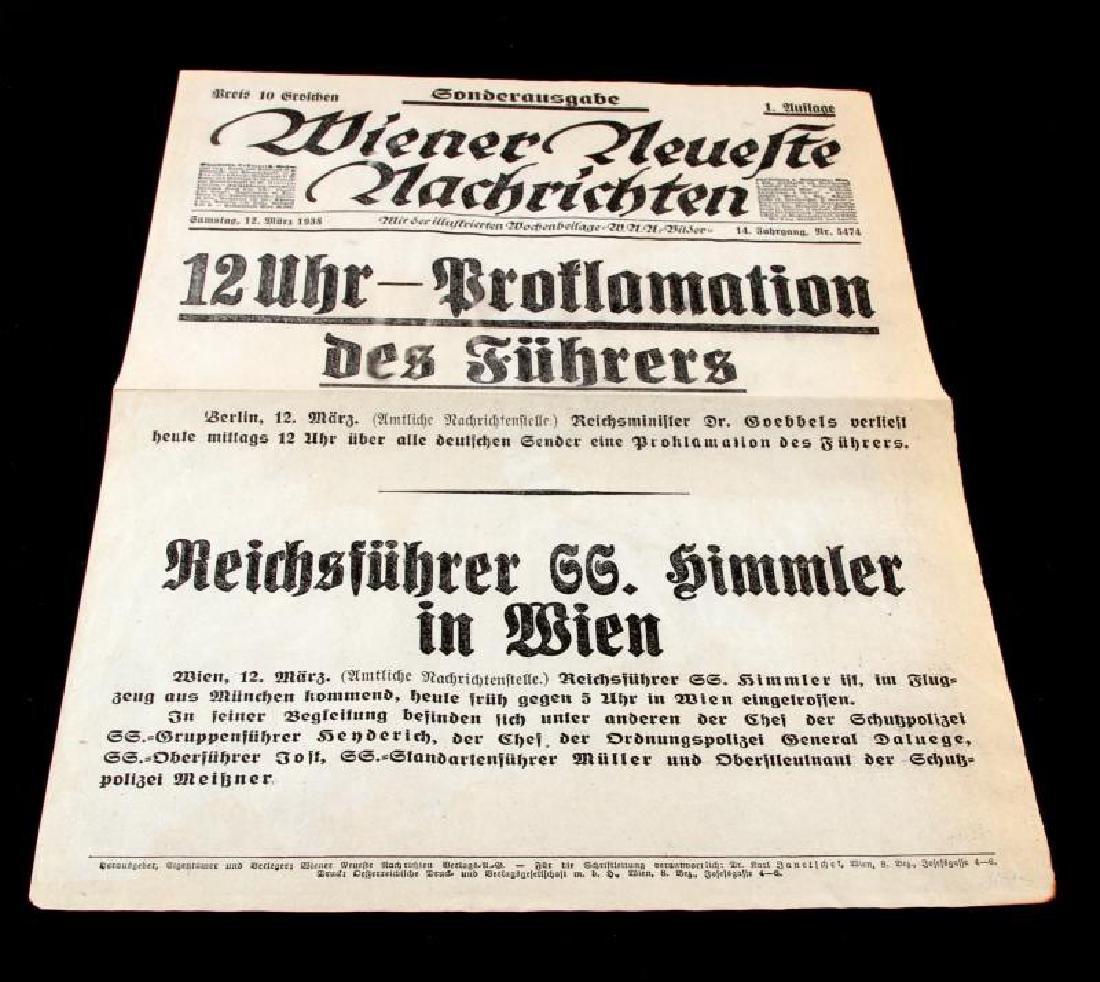 GERMAN 1938 BROADSIDE PROMOTING HITLER & HIMMLER