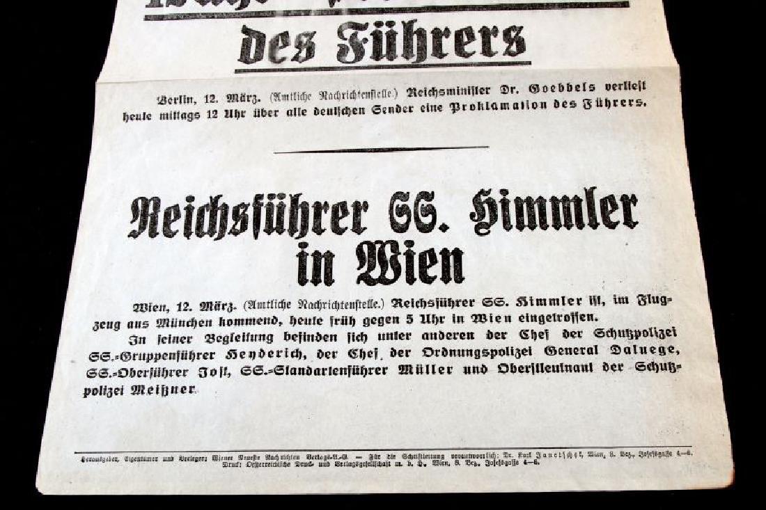 GERMAN 1938 BROADSIDE PROMOTING HITLER & HIMMLER - 3