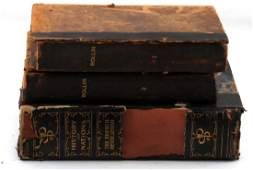 ANTIQUE LEATHER BOUND HISTORY BOOK COLLECTION
