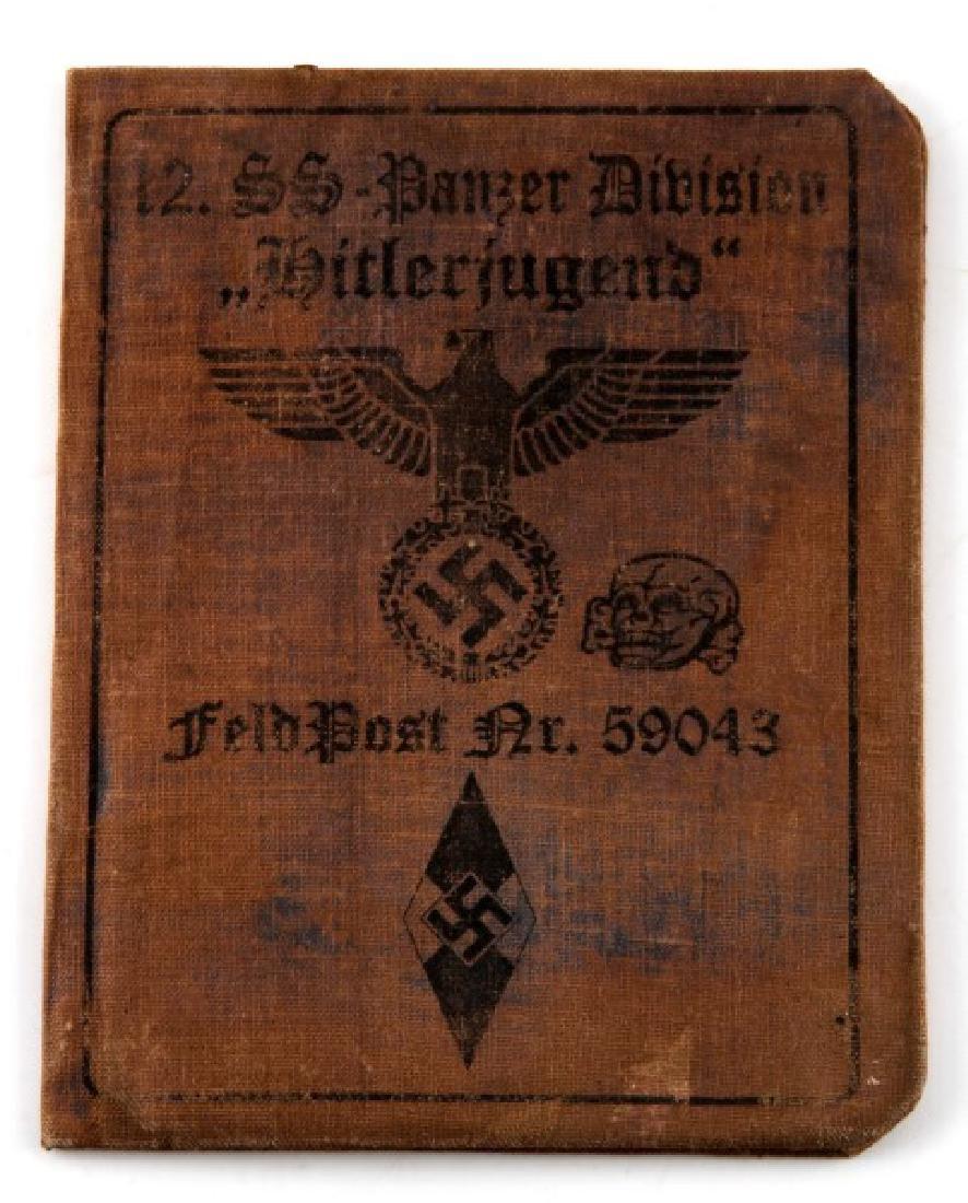 WWII GERMAN WAFFEN SS PANZER AUSWEIS ID CARD