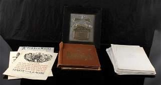 WWII GERMAN THIRD REICH EPHEMERA PLAQUE CIG CARDS