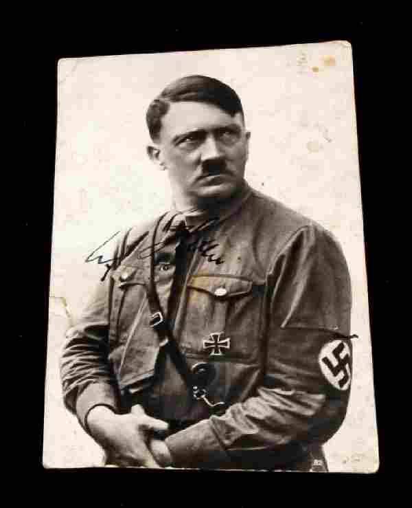 WWII GERMAN THIRD REICH ADOLF HITLER SIGNED PHOTO