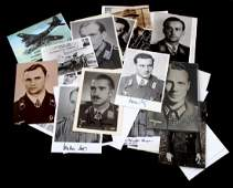 30+ WWII GERMAN HERO SIGNED PHOTOGRAPH LOT