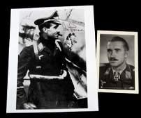 WWII GERMAN LUFTWAFFE  ADOLF GALLAND SIGNED PHOTOS