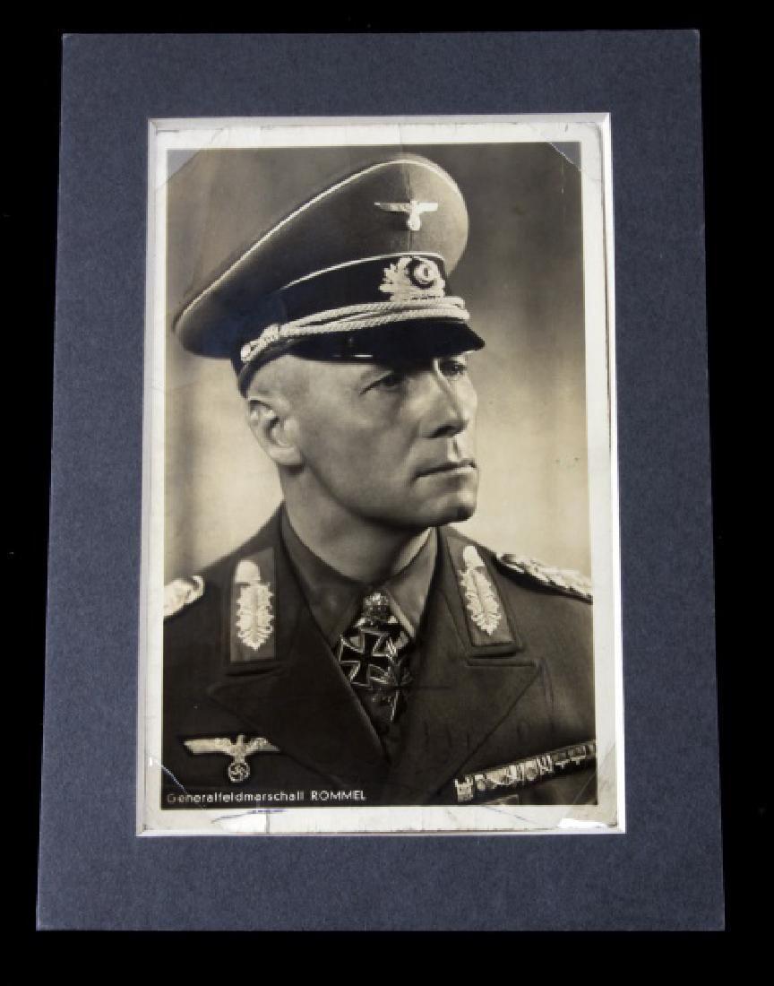 WWII GERMAN HERO ERWIN ROMMEL SIGNED PHOTOGRAPH