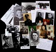 COLLECTION OF WWII GERMAN WAR HEROES AUTOGRAPHS