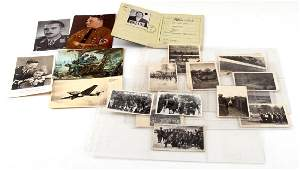 WWII GERMAN THIRD REICH EPHEMERA & PHOTO LOT