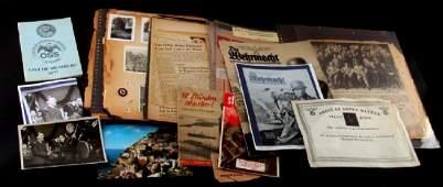 WWII GERMAN THIRD REICH EPHEMERA LOT