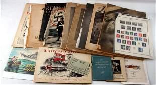 WWII GERMAN THIRD REICH EPHEMERA LOT HUGE VARIETY