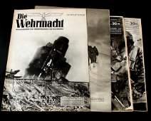 LOT OF 5 WWII GERMAN THIRD REICH WAR MAGAZINES