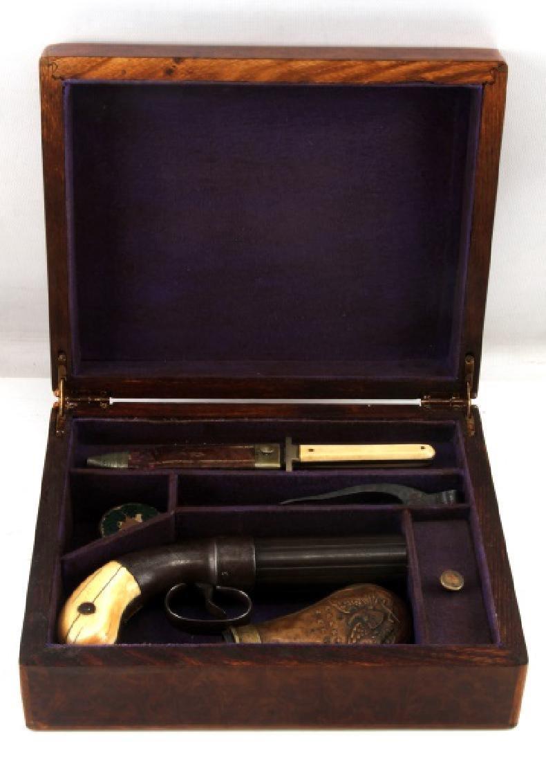 ALLENS PATENT PERCUSSION PEPPERBOX CIRCA 1857