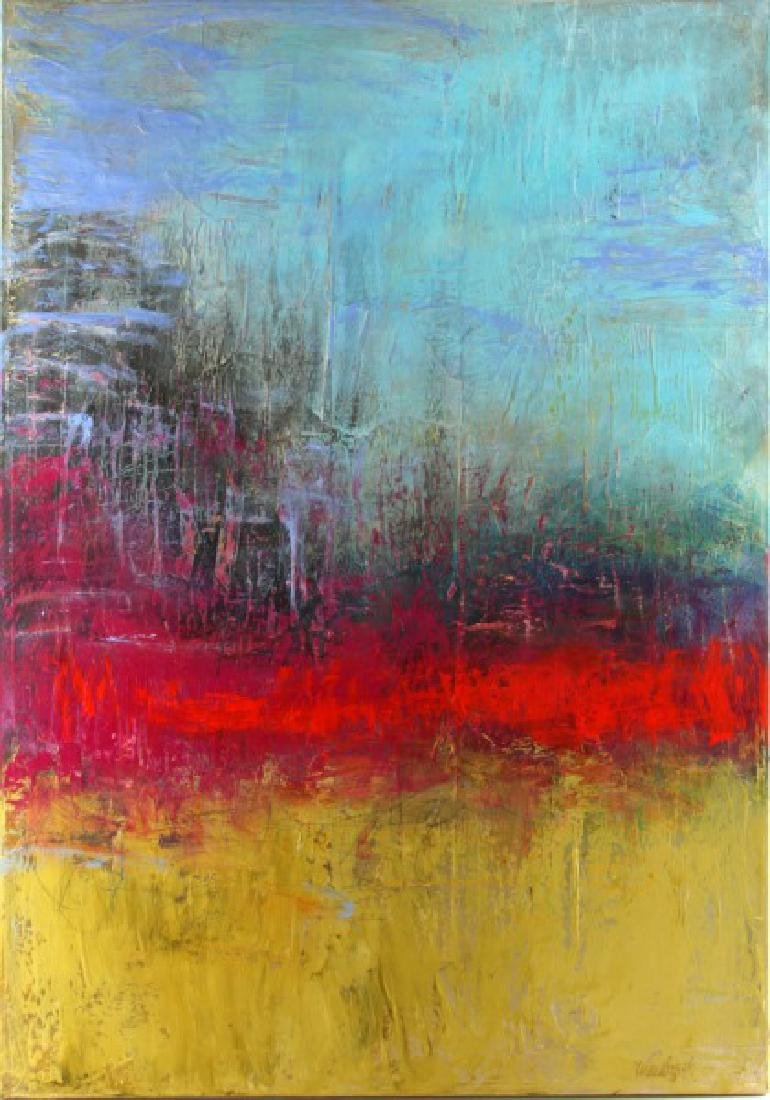 ORIGINAL SIGNED SHARON WESTBROOK ABSTRACT PAINTING