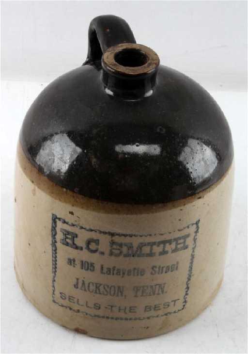 Antique 1 Gal Stoneware Whiskey Jug Jackson Tn