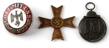 3 WWII GERMAN MILITARY MEDALS SERVICE CROSS ETC