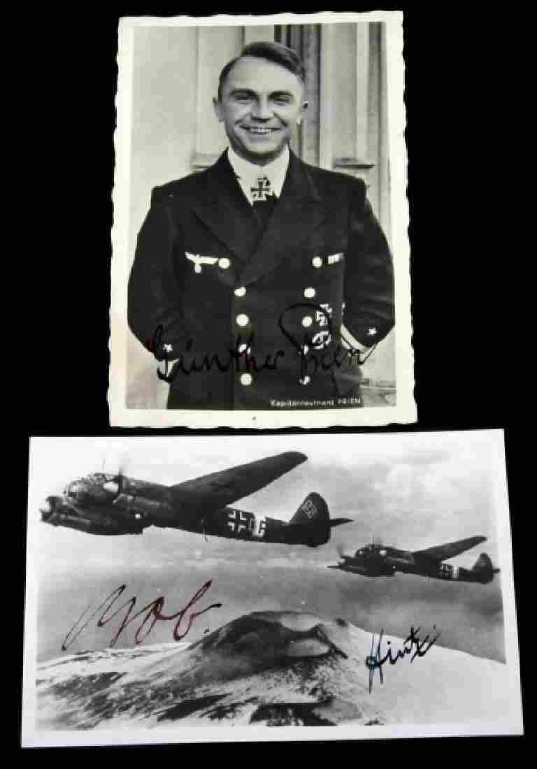WWII GERMAN THIRD REICH WEHRMACHT SIGNED PHOTO LOT