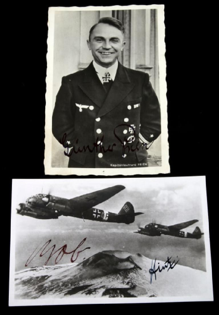 WWII GERMAN THIRD REICH WEHRMACHT SIGNED PHOTO LOT