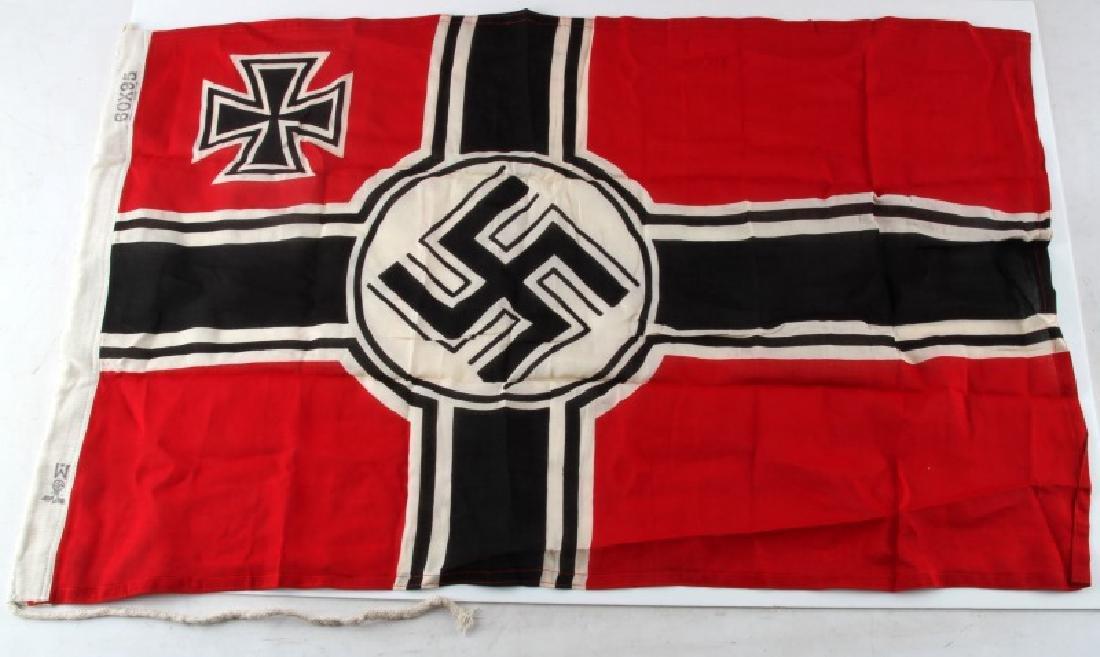 WWII GERMAN THIRD REICH KRIEGSMARINE BATTLE FLAG