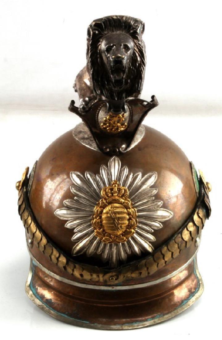IMPERIAL GERMAN WWI SAXON GUARD OFFICERS HELMET