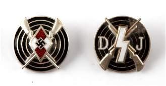 WWII GERMAN THIRD REICH DJ & HJ MARKSMAN AWARD LOT
