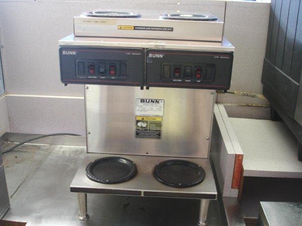 BUNN CW COFFEE MAKER MACHINE COMMERCIAL TWIN