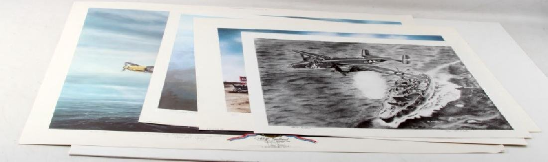 VARIOUS WWII FIGHTER PLANE & AVIATION PRINTS LOT