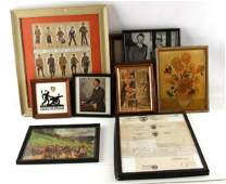 WWII GERMAN THIRD REICH FRAMED PHOTO AND PRINT LOT