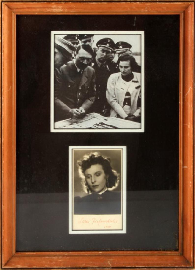 WWII GERMAN THIRD REICH LENI RIEFENSTAHL AUTOGRAPH